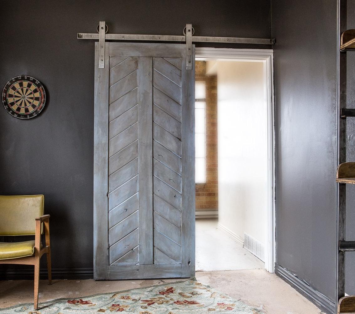 ... U2022 Superb Chevron Barn Door ...