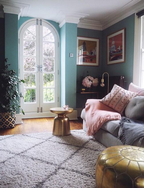 Medium Of Blue Living Room