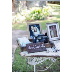 Small Crop Of Polaroid Guest Book