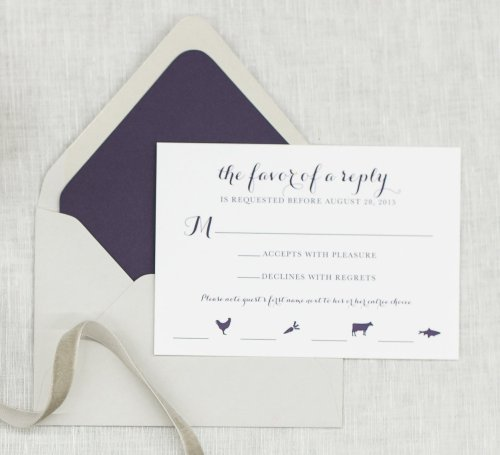 Endearing How To Write Your Wedding Response Card Third Clover Stationery Rsvp Card Wording Spanish Rsvp Card Wording Song Request