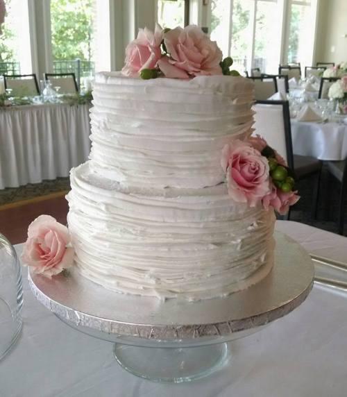 Medium Of Two Tier Wedding Cake