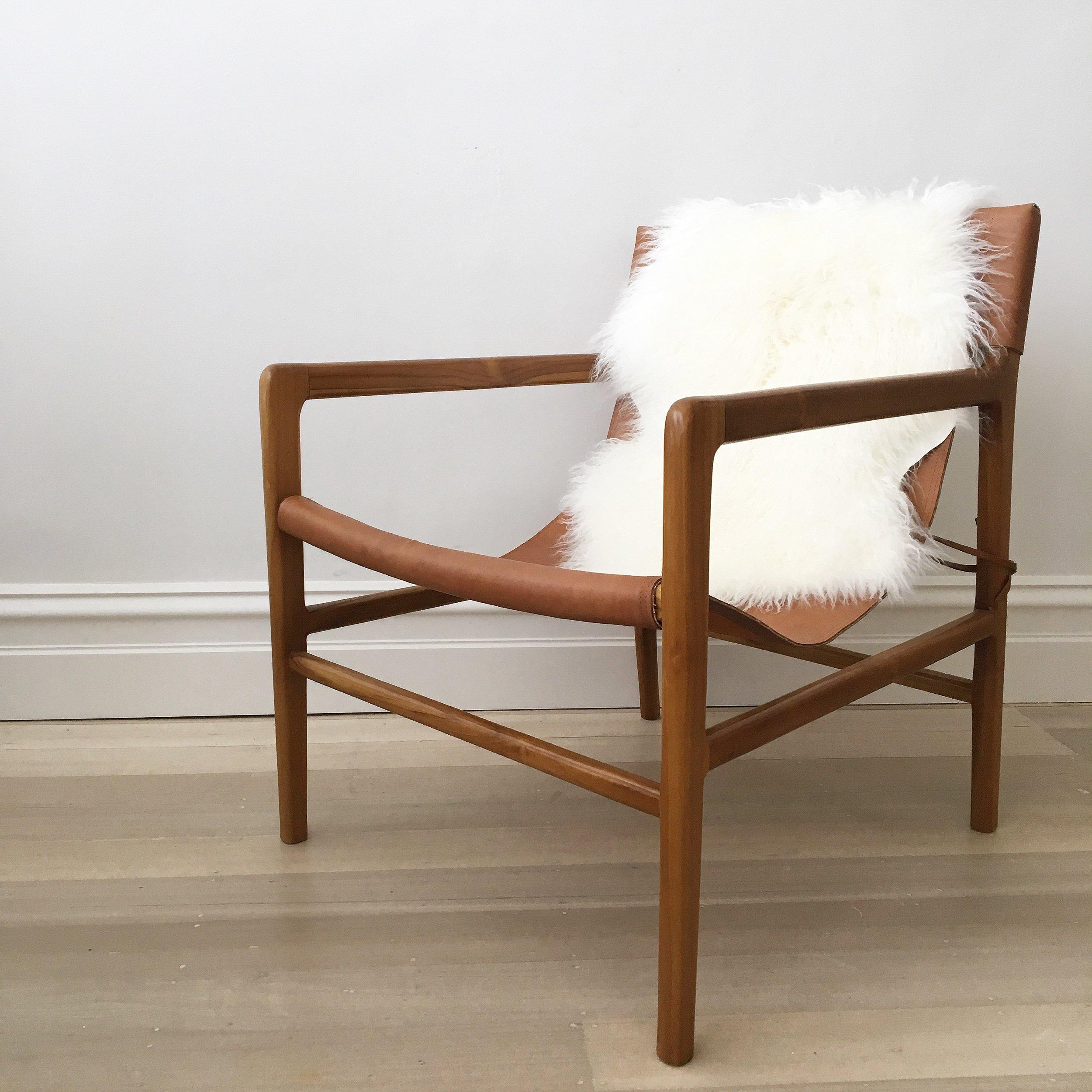 Fullsize Of Leather Sling Chair
