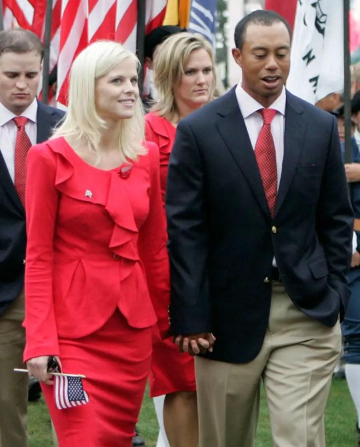 Elin Nordegren with Tiger Woods