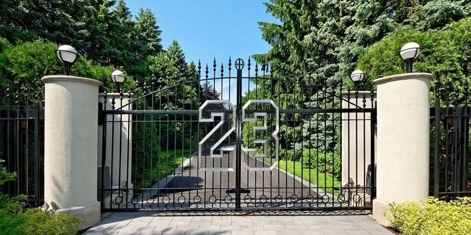 Image result for michael jordan's house gate