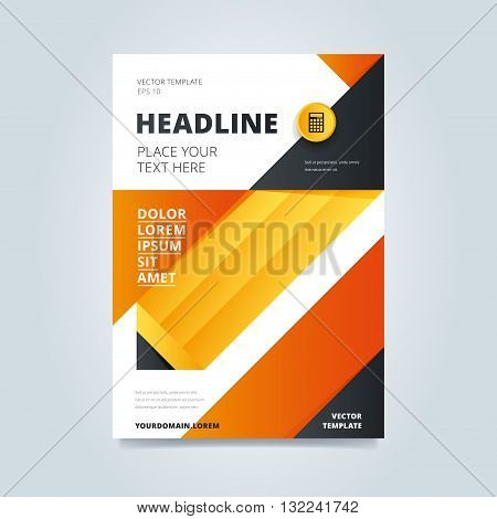 Brochure Design  Vector   Photo  Free Trial    Bigstock Brochure design  Creative brochure design  Business template of brochure or  flyer  Annual report