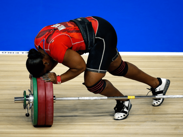 weight lifter failure disappointed