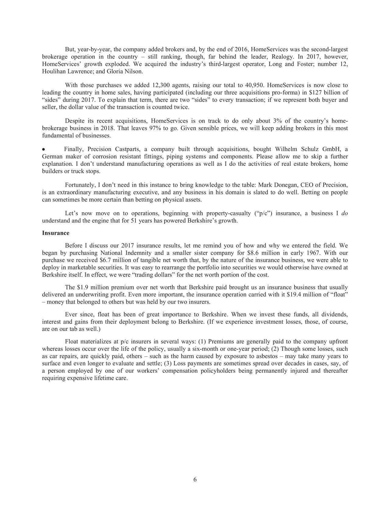 Berkshire Hathaway 2017 Annual Letter - Berkshire Hathaway A (NYSE:BRK.A) | Seeking Alpha