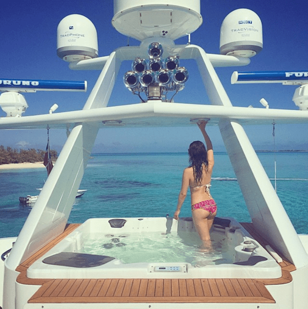 ... and rode yachts in the Bahamas.