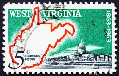 Postage stamp USA 1963 Map of West Virginia – Stock Editorial Photo © Boris15 #6362597