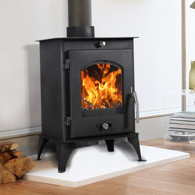 Multifuel Woodburner Stove Wood Burning Log Burner Modern Fire Fireplace New | eBay