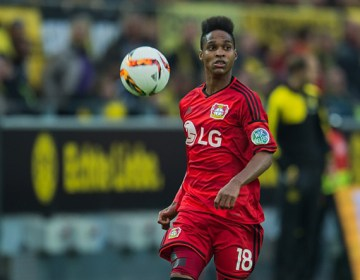 Wendell of Bayer 04 Leverkusen during the Bundesliga match between Borussia Dortmund and Bayer 04 Leverkusen on September 20, 2015 at the Signal Iduna Park in Dortmund, Germany.(Photo by VI Images via Getty Images)