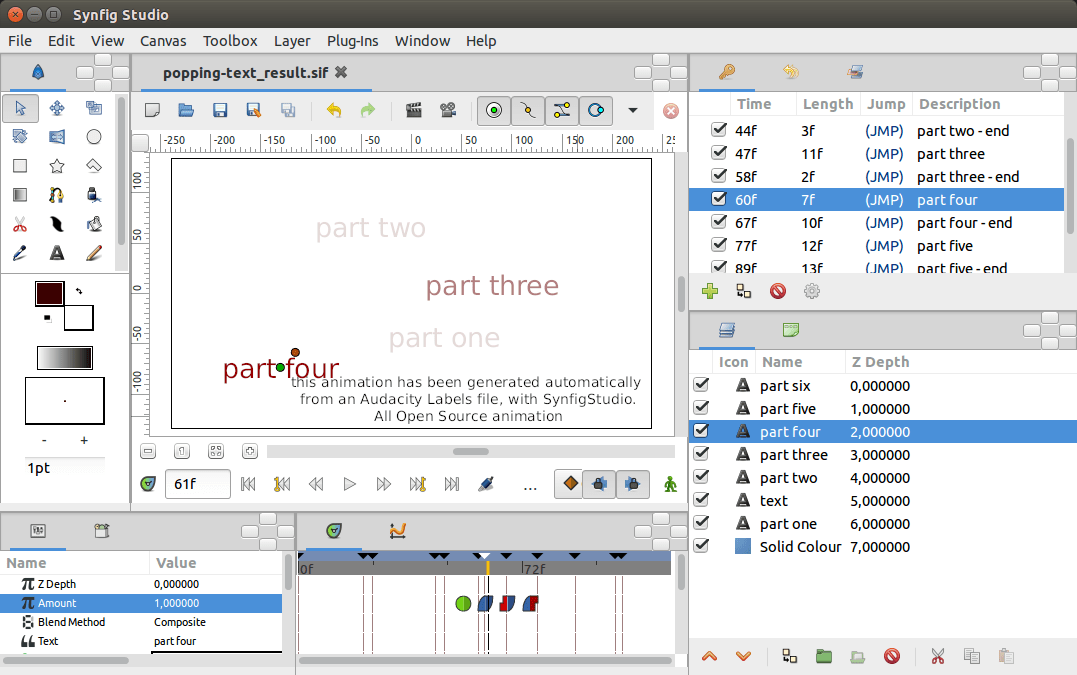 Plugin For Kinetic Typography In Synfig Statushub