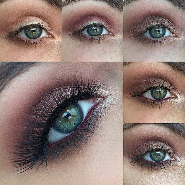 Easy Smokey Eye Tutorial for Green Eyes