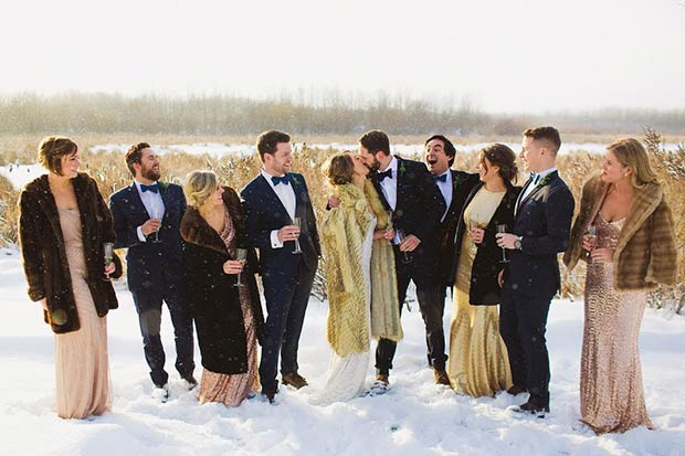 Winter Wedding Bridesmaids Faux Fur Coats