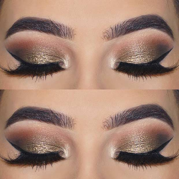 Elegant Prom Eye Makeup for Brown Eyes