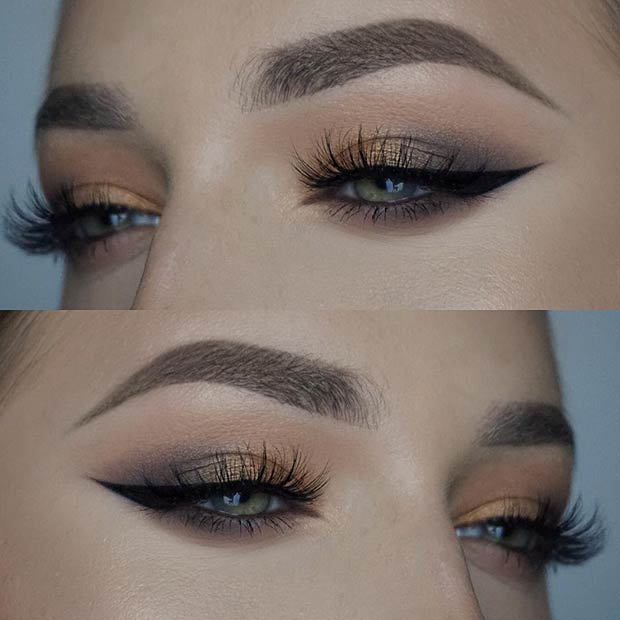 Natural Eye Makeup Idea for Prom