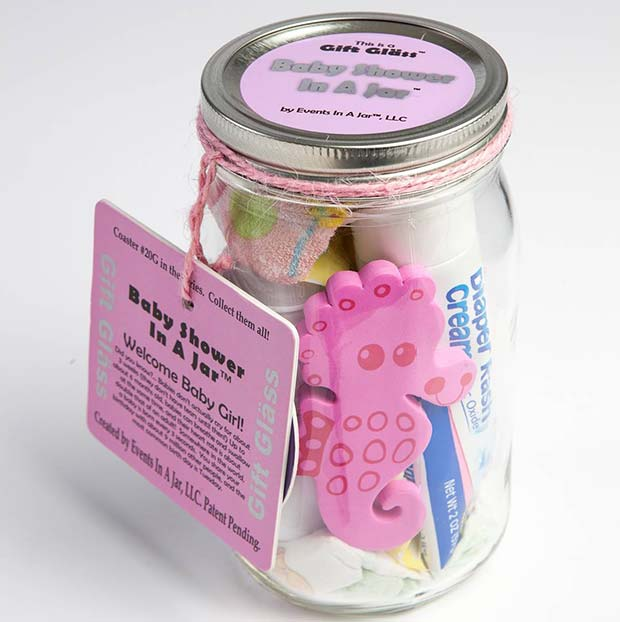 Baby Shower Gift Jar Idea for Girls