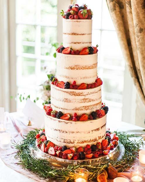 Summer Berry Cake for Summer Wedding Cakes