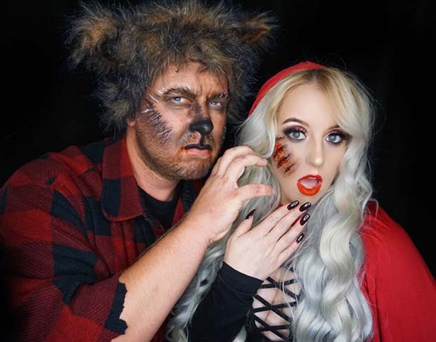 Red Riding Hood and Wolf for Halloween Costumes