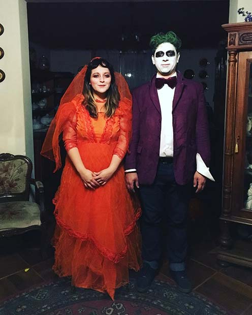 Beetlejuice and Lydia for Halloween Costume Ideas