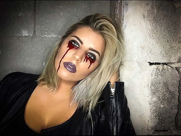 23 Easy, Last,Minute Halloween Makeup Looks \u2013 OBSiGeN