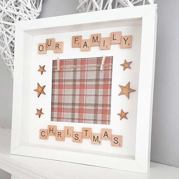 Scrabble Picture for DIY Christmas Gift Ideas
