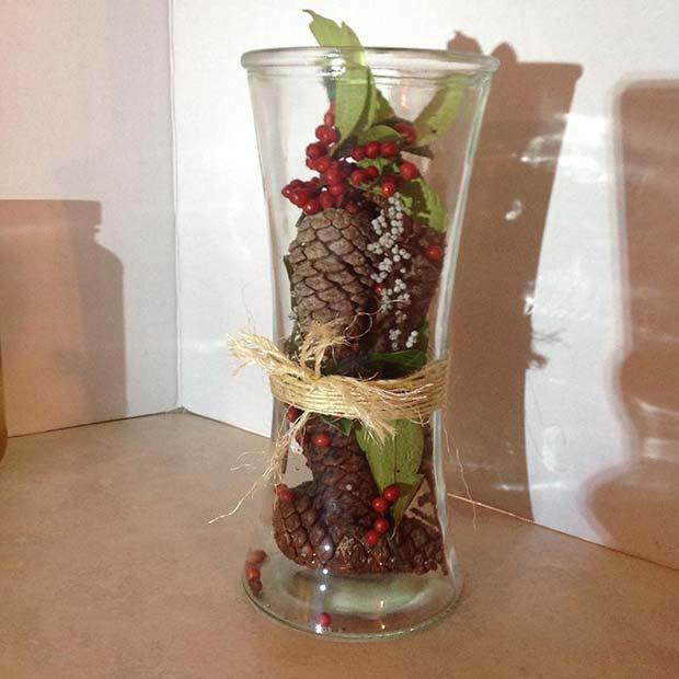 Fall Vase Decor for Thanksgiving