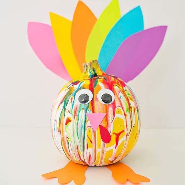Fun Turkey Craft for Thanksgiving