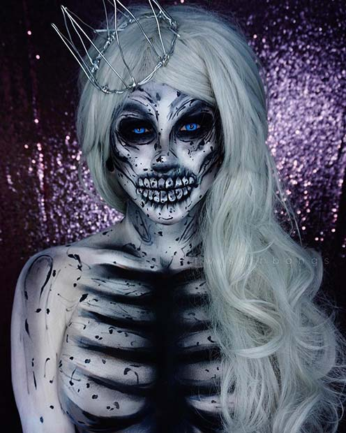 White Zombie Halloween Makeup