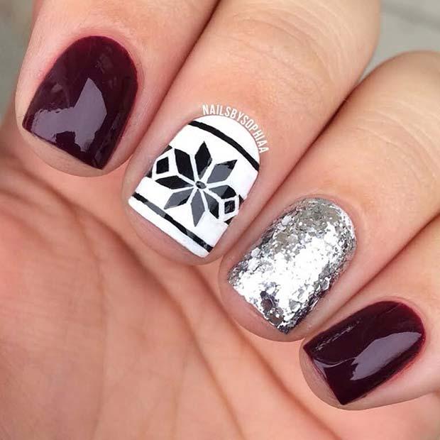 23 Latest Winter-Inspired Nail Art Ideas