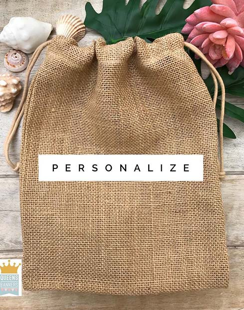Burlap Gift Bag Idea for Bridal Favors