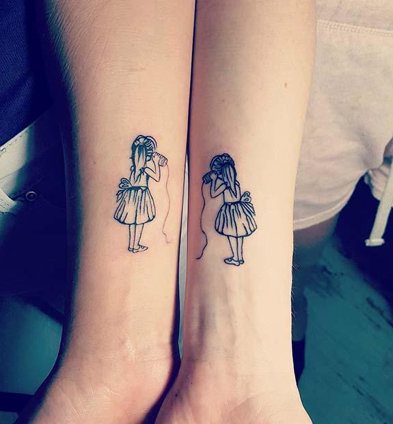 Cute Best Friends Tattoo Idea