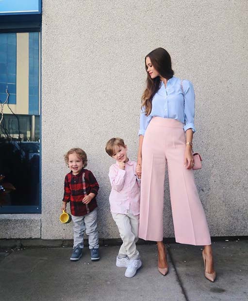 Stylish Spring Mom Outfit for Work