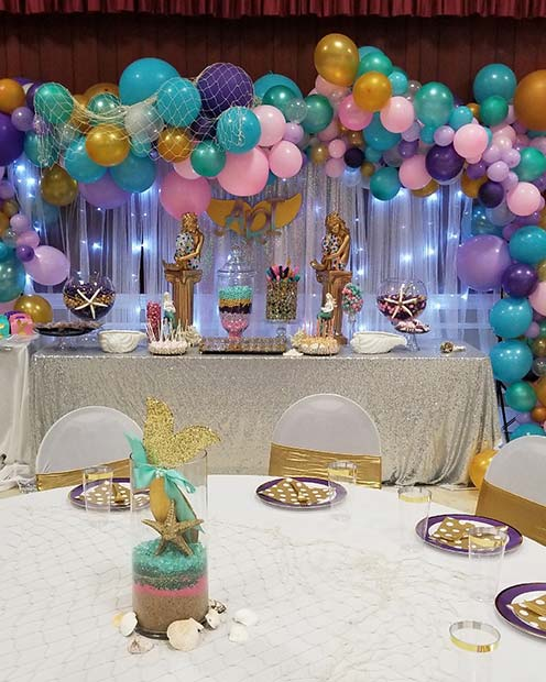 Mermaid Baby Shower Theme for Girls