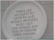 Ronald Reagan quote about no limits to growth