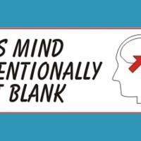 mindblank bumper sticker