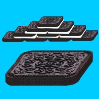 rectangular Oreos for building tasty houses