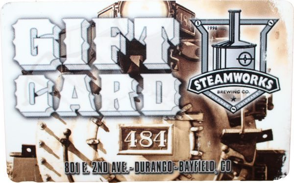Gift Card for Great beer and food in durango co steamworks brewing company