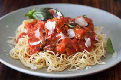 Healthy Spaghetti and Meatballs: 2 Secret Ingredients • Steamy Kitchen Recipes