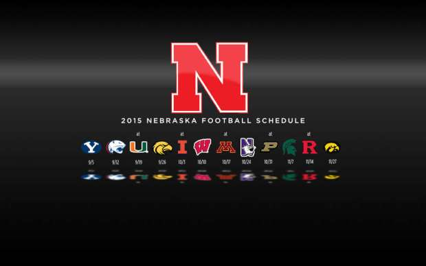 2015 Nebraska Cornhuskers Football Schedule Wallpaper Preview
