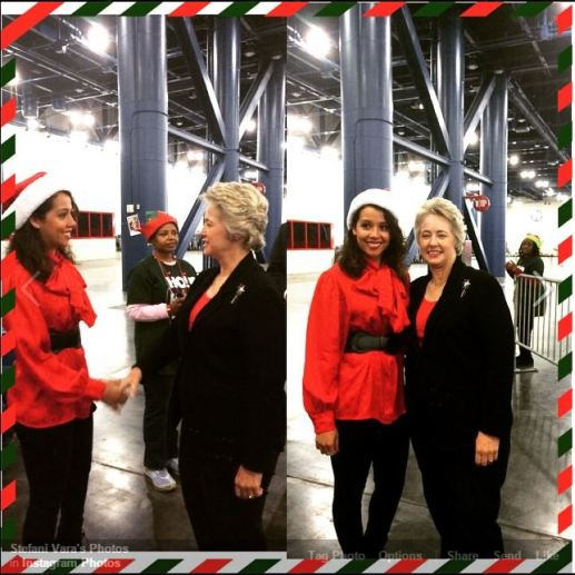 (2014) Stefani Vara meets Houston Mayor Annise Parker at the Houstons Children Charity Holiday Toy Drive