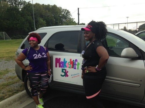 Artney, of My Pretty Brown Fit, and her friend ran a total of 14 miles Saturday! So glad they joined us for 3.1.