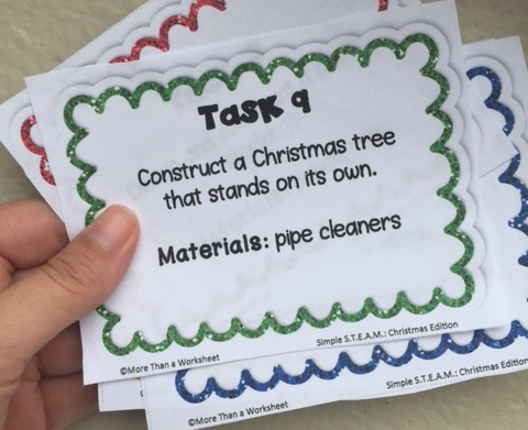 Christmas STEM task cards