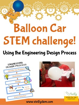 Challenge students to build a balloon-powered card that can travel 5 feet! This STEM challenge will take your students through the engineering design process as they brainstorm, design, build, and test with a fun and engaging project.
