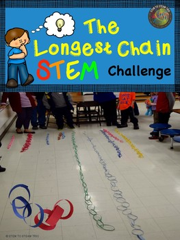 This is a STEAM challenge for elementary teachers at any grade level. Students will work in groups to complete the longest chain!