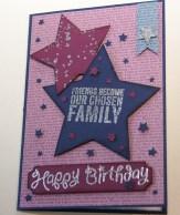 Geburtstagskarte Sterne
