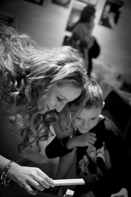 Stephanie Klein with son