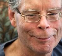 BANGOR, MAINE -- 10/02/2014 -- Stephen King talks with BDN's John Holyoke Thursday, October 2, 2014 at his office in Bangor. Ashley L. Conti | BDN