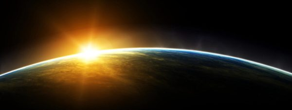 Earth-with-sunrise