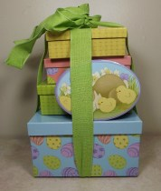 Happy Easter Gift Tower from GourmetGiftBaskets.com